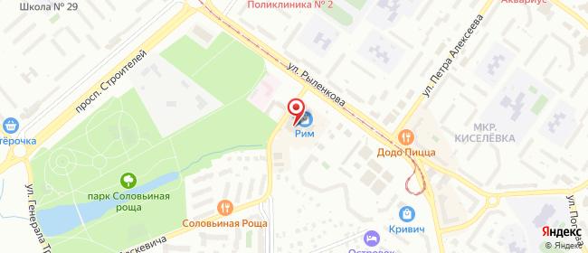 Карта расположения пункта доставки Смоленск Рыленкова в городе Смоленск