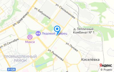 Местоположение на карте пункта техосмотра по адресу г Смоленск, ул Попова