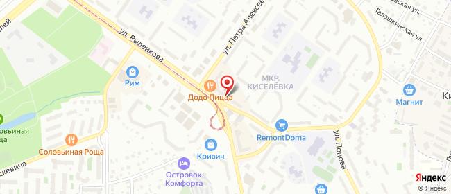 Карта расположения пункта доставки Смоленск Петра Алексеева в городе Смоленск