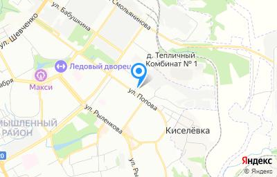 Местоположение на карте пункта техосмотра по адресу г Смоленск, ул Попова, д 23А
