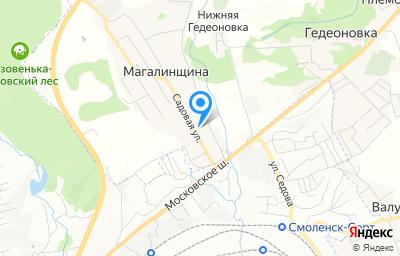 Местоположение на карте пункта техосмотра по адресу Смоленская обл, Смоленский р-н, деревня Магалинщина