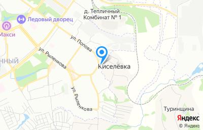 Местоположение на карте пункта техосмотра по адресу г Смоленск, ул Попова, д 100А