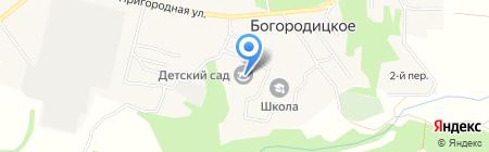 Богородицкая средняя общеобразовательная школа на карте Богородицкого