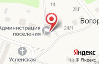 Схема проезда до компании Почтовое отделение в Богородицком