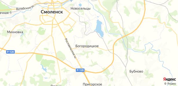 Богородицкое на карте