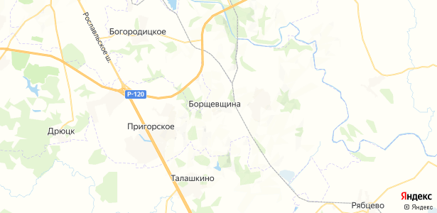 Борщевщина на карте