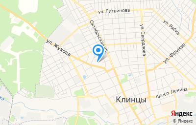 Местоположение на карте пункта техосмотра по адресу Брянская обл, г Клинцы, пер Спартак, д 8