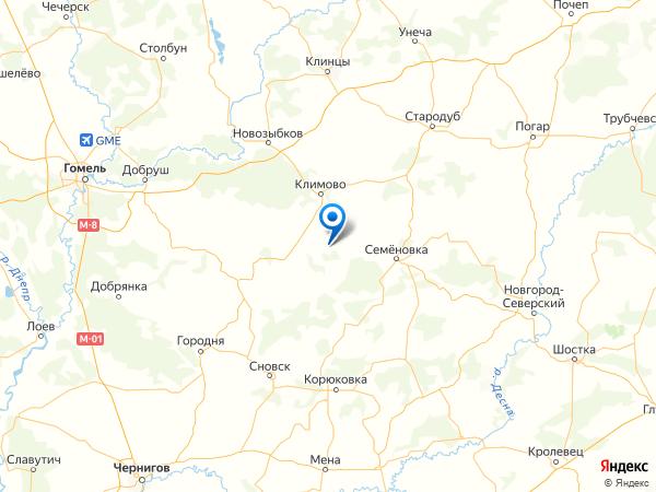 населенный пункт Малинник на карте