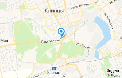 Местоположение на карте пункта техосмотра по адресу Брянская обл, г Клинцы, ул Парковая, д 13А