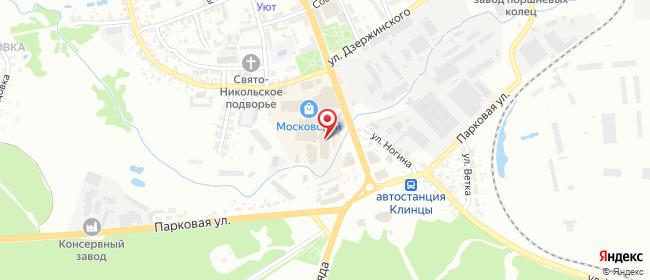 Карта расположения пункта доставки 220 вольт в городе Клинцы