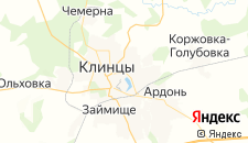 Гостиницы города Клинцы на карте
