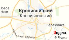 Гостиницы города Кировоград на карте
