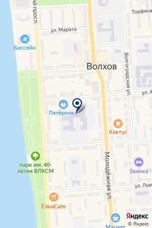 АВТОМАСТЕРСКАЯ на карте Волхова
