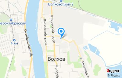 Местоположение на карте пункта техосмотра по адресу Ленинградская обл, г Волхов, ул Маяковского, д 10