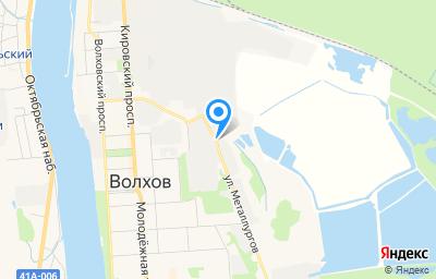 Местоположение на карте пункта техосмотра по адресу Ленинградская обл, г Волхов, ул Металлургов, д 1