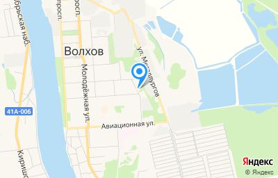 Местоположение на карте пункта техосмотра по адресу Ленинградская обл, г Волхов, ул Ярвенпяя, д 2