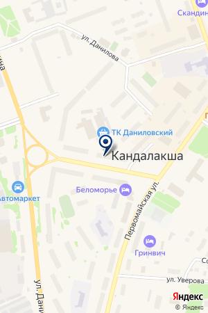 АВТОМАГАЗИН АВТОМАРКЕТ на карте Кандалакши