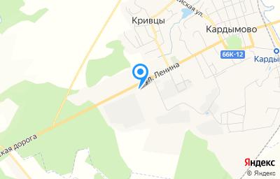 Местоположение на карте пункта техосмотра по адресу Смоленская обл, пгт Кардымово, ул Ленина, д 63В