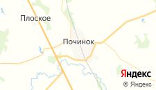 Гостиницы города Починок на карте