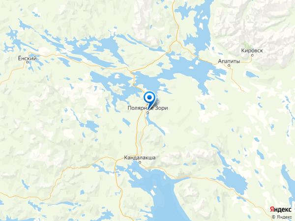 Полярные Зори на карте