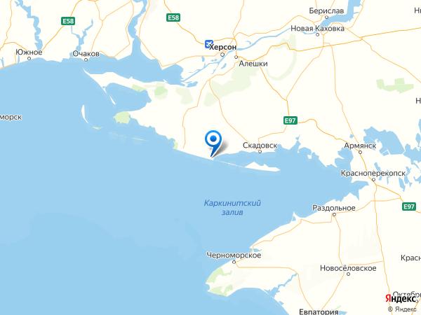 поселок городского типа Лазурное на карте