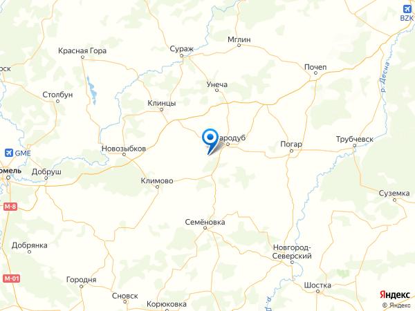 село Чубковичи на карте