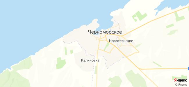 Частный сектор Черноморского - объекты на карте