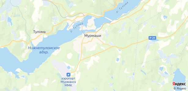Мурмаши на карте