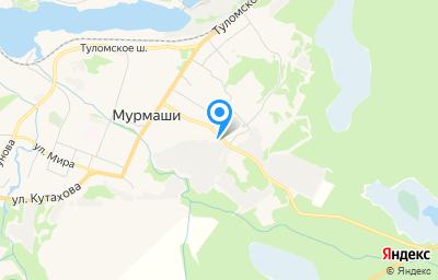 Местоположение на карте пункта техосмотра по адресу Мурманская обл, Кольский р-н, пгт Мурмаши, ул Цесарского, д 1А