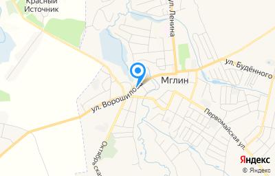 Местоположение на карте пункта техосмотра по адресу Брянская обл, г Мглин, ул Ворошилова, д 35