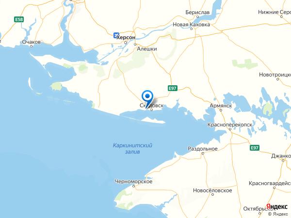 поселок Озерное на карте