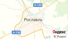 Отели города Рославль на карте