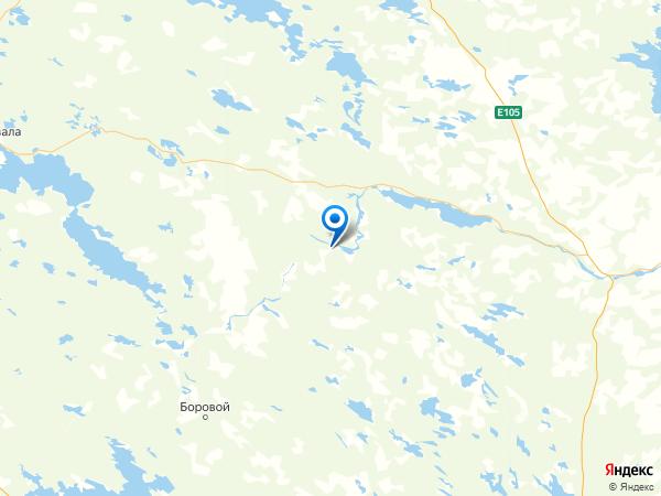 посёлок Панозеро на карте