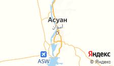 Отели города Асуан на карте