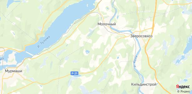 Молочный на карте