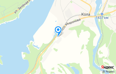 Местоположение на карте пункта техосмотра по адресу Мурманская обл, г Кола, пр-кт Миронова, д 32