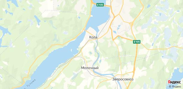 Кола на карте