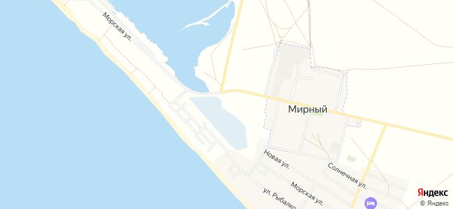 Базы отдыха Мирного и Поповки - объекты на карте