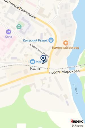 КОЛЬСКИЙ ФИЛИАЛ АЛЕКСАНДРОВСКИЙ БАНК на карте Колы