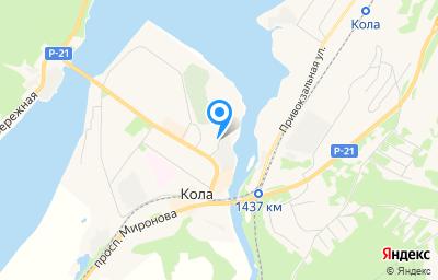 Местоположение на карте пункта техосмотра по адресу Мурманская обл, г Кола, ул Каменный Остров