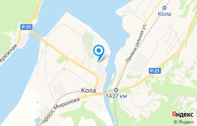 Местоположение на карте пункта техосмотра по адресу Мурманская обл, г Кола, ул Каменный Остров, д 5