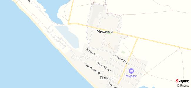 Пансионаты Мирного и Поповки - объекты на карте