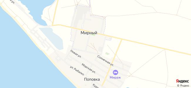 Квартиры Мирного и Поповки - объекты на карте