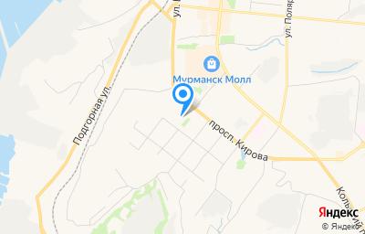 Местоположение на карте пункта техосмотра по адресу г Мурманск, ул Горького, д 14