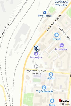 АВТОЗАПРАВОЧНЫЙ КОМПЛЕКС № 2 на карте Мурманска