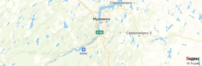 Мурманская область на карте
