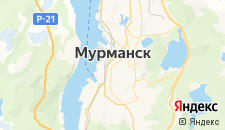 Гостиницы города Мурманск на карте
