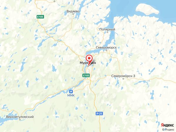 Мурманск на карте