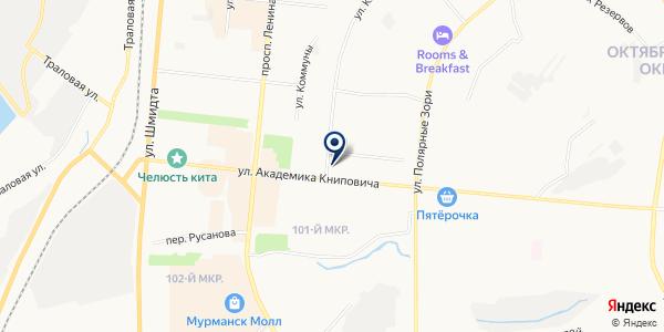 САЛОН КРАСОТЫ АРИАДНА на карте Мурманске