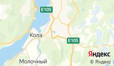 Отели города Кола на карте